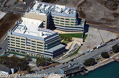 Aerial photograph 409 and 499 Illinois St Mission Bay San Francisco California
