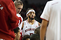 November 17, 2013: Terran Petteway (5) of the Nebraska Cornhuskers during a time out against the South Carolina State Bulldogs at the Pinnacle Bank Areana, Lincoln, NE. Nebraska defeated South Carolina State 83 to 57.