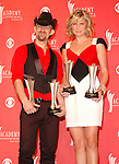 Sugarland - Kristian Bush and Jennifer Nettles at the 2008 ACM Awards at MGM Grand in Las Vegas, May 18 2008.