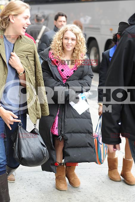 April ,01 2012:On The Set Of The Carrie Diaries ,AnnaSophia Robb,New York City ,New York. mpi15 / mediapunchinc