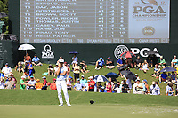 Thorbjorn Olesen (DEN) on the 18th green during Saturday's Round 3 of the 2017 PGA Championship held at Quail Hollow Golf Club, Charlotte, North Carolina, USA. 12th August 2017.<br /> Picture: Eoin Clarke | Golffile<br /> <br /> <br /> All photos usage must carry mandatory copyright credit (&copy; Golffile | Eoin Clarke)