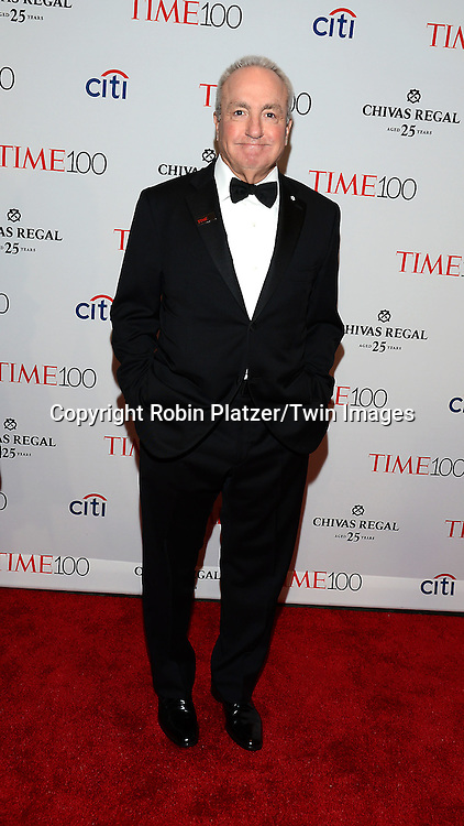 Lorne Michaels attends the TIME 100 Issue celebrating the 100 Most Influential People in the World on April 21, 2015 <br /> at Frederick P Rose Hall at Lincoln Center in New York City, New York, USA.<br /> <br /> photo by Robin Platzer/Twin Images<br />  <br /> phone number 212-935-0770