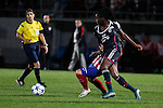 Olympique Lyonnais´s Mbock during UEFA Women´s Champions League soccer match between Atletico de Madrid and Olympique Lyonnais, in Madrid, Spain. November 11, 2015. (ALTERPHOTOS/Victor Blanco)