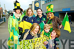 Front Row Sandra Ni Domhnaill, Seamus O Chonchubhair and Siobhain ni Chonubhair. Back RorMaire Ni Laighan, Aine Ni Gara, Aoife Ni Dhubhda, and Niamh Ni Chuileannain Castegregory fans at the All Ireland Junior Club Championship at Croke park on Sunday..