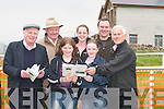 BETS: Getting their bets ready at the North Kerry Harriers Point to Point Races at Ballybunion on Sunday. Front l-r: Patrick Shanahan (Knocknagoshel), Anna Buckley, Deirdre O'Connor (Ballydonoghue) and Padraig O'Sullivan (Ballybunion). Back l-r: John McMahon, Roisin Shanahan and Denis Buckley (Ballydonoghue)..