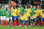 29 May 2008: Luis Amaranto Perea (COL) (14) acknowledges the Colombia fans (not pictured) as he leads the Colombia team onto the field. The Republic of Ireland Men's National Team defeated the Colombia Men's National Team 1-0 at Craven Cottage in London, England in an international friendly soccer match.