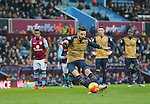 Olivier Giroud of Arsenal scores from the penalty spot - Football - Barclays Premier League - Aston Villa vs Arsenal - Villa Park Birmingham - 13th December 2015 - Season 2015/2016 - Photo Malcolm Couzens/Sportimage