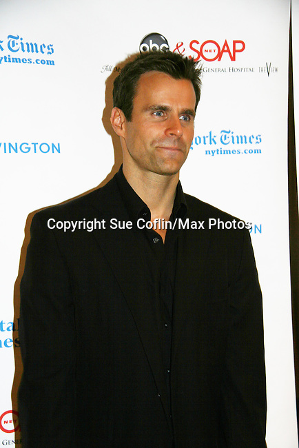 Cameron Mathison - host of event - All My Children support the 6th Annual ABC/SoapNet salutes Broadway Cares/Equity Fights Aids - An Evening of Musical Entertainment & Comedy on March 21, 2010 at the New York Marriott Marquis, New York City, New York. (Photo by Sue Coflin/Max Photos)
