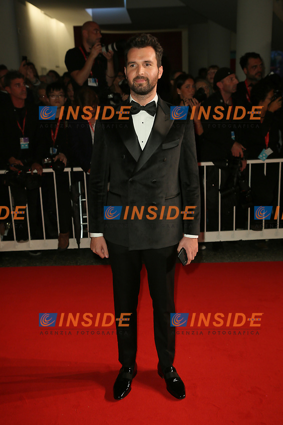 """VENICE, ITALY - SEPTEMBER 06: Andrea Iervolino walks the red carpet ahead of the """"Waiting For The Barbarians"""" screening during the 76th Venice Film Festival at Sala Grande on September 06, 2019 in Venice, Italy. (Photo by Mark Cape/Insidefoto)<br /> Venezia 06/09/2019"""