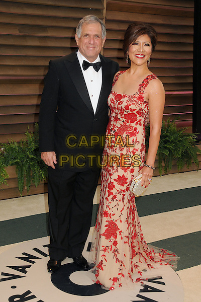02 March 2014 - West Hollywood, California - Leslie Moonves, Julie Chen. 2014 Vanity Fair Oscar Party following the 86th Academy Awards held at Sunset Plaza.  <br /> CAP/ADM/BP<br /> &copy;Byron Purvis/AdMedia/Capital Pictures