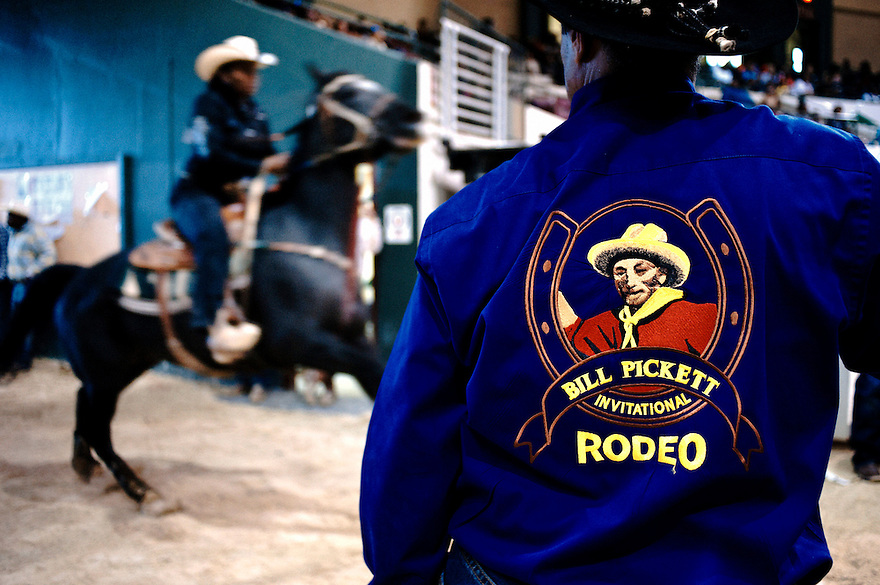 For 25 years the Bill Pickett Rodeo has traveled across the country telling the story of the African American cowboy...Since its inaugural event in Denver's Adam's County Arena back in 1984 the Bill Pickett Rodeo has introduced hundreds of thousands of youngsters to the African American rodeo experience...Named after the legendary Black rodeo pioneer, Bill Pickett was credited with creating the 'dogging' techniques used by today's cowboys. For 25 years the Bill Pickett Rodeo has traveled across the country telling the story of the African American cowboy. Since its inaugural event in Denver's Adam's County Arena back in 1984 the Bill Pickett Rodeo has introduced hundreds of thousands of youngsters to the African American rodeo experience. Named after the legendary Black rodeo pioneer, Bill Pickett was credited with creating the 'dogging' techniques used by today's cowboys.