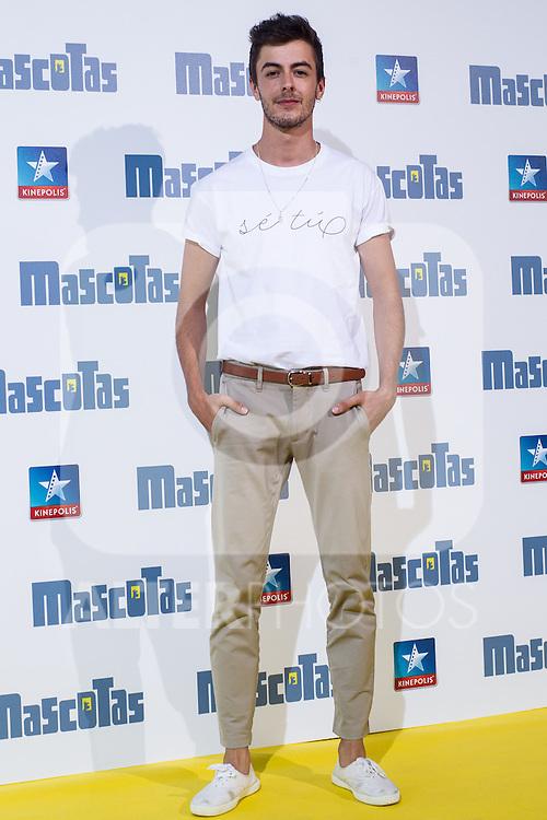 Spanish actor Victor Palmero during the premiere of  Mascotas at Kinepolis cinema in Madrid. July 21, 2016. (ALTERPHOTOS/Rodrigo Jimenez)
