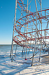 The famed amusement piers in Seaside Heights, New Jersey, including Funtown Pier and Casino Pier, were devastated by Hurricane Sandy.