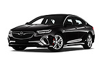 Stock pictures of low aggressive front three quarter view of 2019 Opel Insignia-Grand-Sport GSI 5 Door Hatchback Low Aggressive