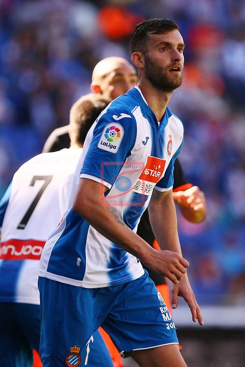 League Santander 2016/2017. Game: 37.<br /> RCD Espanyol vs Valencia CF: 0-1.<br /> Leo Baptistao.