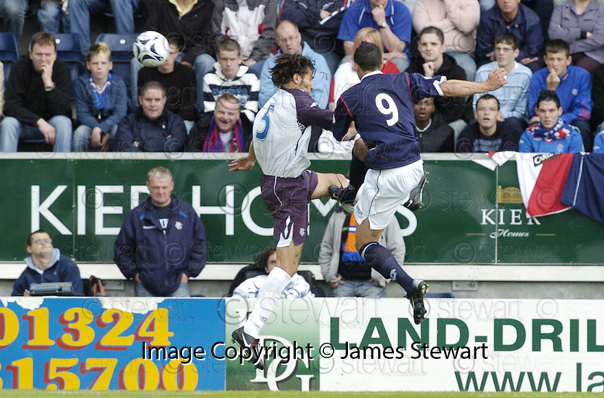 21/07/2007       Copyright Pic: James Stewart.File Name : sct_jspa12_falkirk_v_rangers.ALEX TOTTEN TESTIMONIAL.PEDRO MOUTINHO GETS UP TO CHIP IN FALKIRK'S EQUALISER.....James Stewart Photo Agency 19 Carronlea Drive, Falkirk. FK2 8DN      Vat Reg No. 607 6932 25.Office     : +44 (0)1324 570906     .Mobile   : +44 (0)7721 416997.Fax         : +44 (0)1324 570906.E-mail  :  jim@jspa.co.uk.If you require further information then contact Jim Stewart on any of the numbers above.........