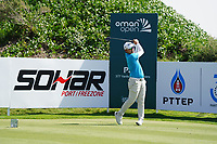 Masahiro Kawamura (JPN) on the 2nd during Round 2 of the Oman Open 2020 at the Al Mouj Golf Club, Muscat, Oman . 28/02/2020<br /> Picture: Golffile | Thos Caffrey<br /> <br /> <br /> All photo usage must carry mandatory copyright credit (© Golffile | Thos Caffrey)