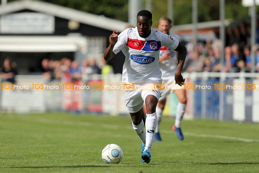 Fejiri Okenabirhie of Dagenham during Eastleigh vs Dagenham & Redbridge, Vanarama National League Football at the Silverlake Stadium on 12th August 2017