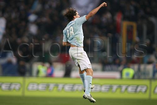 13th December 2009: Guillermo Stendardo celebrates during the match for the Italian Serie A Soccer Lazio V.Genoa at the Olympic Satadium,Rome.Photo by Leonardo Cavallo/ActionPlus - Worldwide Editorial