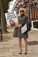 Pamela Anderson sends letter to Prime Minister Theresa May to ban wild-life circuses, and support PETA, during flying visit to London, England October 12, 2016.<br /> CAP/PL<br /> &copy;Phil Loftus/Capital Pictures /MediaPunch ***NORTH AND SOUTH AMERICAS ONLY***