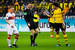09.03.2019, Signal Iduna Park, Dortmund, GER, 1.FBL, Borussia Dortmund vs VfB Stuttgart, DFL REGULATIONS PROHIBIT ANY USE OF PHOTOGRAPHS AS IMAGE SEQUENCES AND/OR QUASI-VIDEO<br /> <br /> im Bild   picture shows:<br /> Axel Witsel (Borussia Dortmund #28) im Disput mit Santiago Ascacibar (VfB Stuttgart #6), <br /> <br /> Foto &copy; nordphoto / Rauch