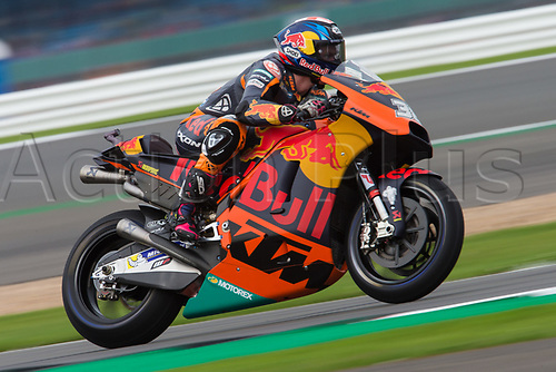 26th August 2017, Silverstone Circuit, Northamptonshire, England; British MotoGP, Qualifying; Red Bull KTM Factory Racing MotoGP rider Bradley Smith powers out of the Loop corner
