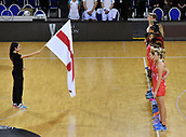 7th September 2017, Te Rauparaha Arena, Wellington, New Zealand; Taini Jamison Netball Trophy; New Zealand versus England;  England stand for the national anthems