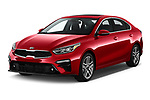 2020 KIA Forte EX 4 Door Sedan angular front stock photos of front three quarter view