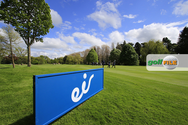 The 16th hole during Thursday's Round 1 of the 2016 Dubai Duty Free Irish Open hosted by Rory Foundation held at the K Club, Straffan, Co.Kildare, Ireland. 19th May 2016.<br /> Picture: Eoin Clarke   Golffile<br /> <br /> <br /> All photos usage must carry mandatory copyright credit (&copy; Golffile   Eoin Clarke)
