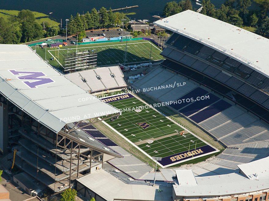 Husky Stadium on the University of Washington (UW) campus in Seattle