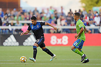 SAN JOSE, CA - SEPTEMBER 30: Andres Rios #25 of the San Jose Earthquakes during a Major League Soccer (MLS) match between the San Jose Earthquakes and the Seattle Sounders on September 30, 2019 at Avaya Stadium in San Jose, California.