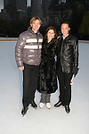 Olympic skaters Denis Petukov, Melissa Gregory and Johnny Weir at the 2009 Skating with the Stars - a benefit gala for Figure Skating in Harlem on April 6, 2009 at Wollman Rink, Central Park, NYC, NY. (Photo by  Sue Coflin/Max Photos)