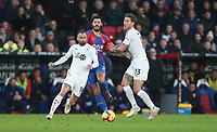 Burnley's Steven Defour and Jeff Hendrick challenge Crystal Palace's James Tomkins<br /> <br /> Photographer Rob Newell/CameraSport<br /> <br /> The Premier League - Saturday 1st December 2018 - Crystal Palace v Burnley - Selhurst Park - London<br /> <br /> World Copyright &copy; 2018 CameraSport. All rights reserved. 43 Linden Ave. Countesthorpe. Leicester. England. LE8 5PG - Tel: +44 (0) 116 277 4147 - admin@camerasport.com - www.camerasport.com