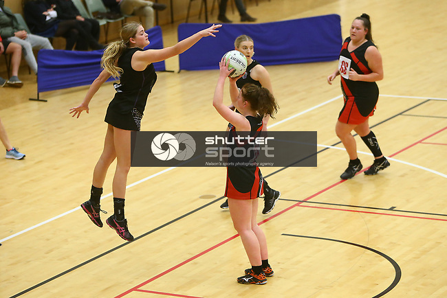 NELSON, NEW ZEALAND - AUGUST : Premier Netball Semi -Final Prices v Richmond on August 22 at Saxton Stadium  2019 in Nelson, New Zealand. (Photo by: Evan Barnes Shuttersport Limited)