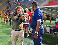 IBAGUÉ-COLOMBIA , 07 -11-2018 .Alberto Gamero director  técnico del Deportes Tolima  durante su encuentro contra el Once Caldas  partido por la fecha 14 de la Liga Águila II 2018 jugado en el estadio Manuel Murillo Toro de la ciudad de Ibagué./ Alberto Gamero coach  of Deportes Tolima reacts during match agaisnt of Once Caldas during the match for the date 14 of the Aguila League II 2018 played at Manuel Murillo Toro  stadium in Ibague city. Photo: VizzorImage/ Juan Carlos Escobar / Contribuidor