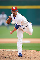 Buffalo Bisons relief pitcher Colt Hynes (14) delivers a pitch during a game against the Louisville Bats on June 23, 2016 at Coca-Cola Field in Buffalo, New York.  Buffalo defeated Louisville 9-6.  (Mike Janes/Four Seam Images)