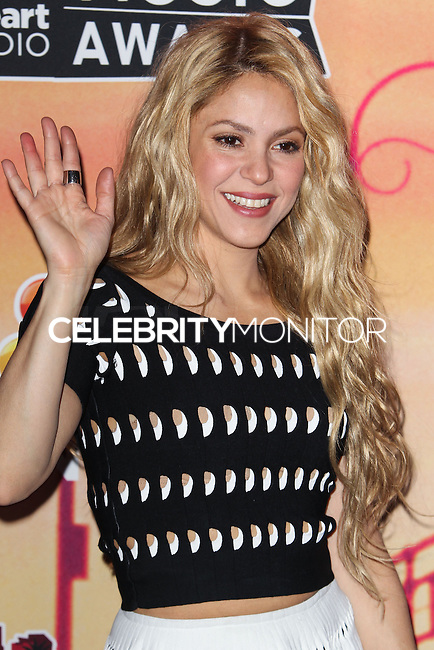 LOS ANGELES, CA, USA - MAY 01: Shakira in the press room at the iHeartRadio Music Awards 2014 held at The Shrine Auditorium on May 1, 2014 in Los Angeles, California, United States. (Photo by Celebrity Monitor)