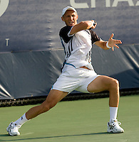 Nikolay Davydenko RUS (8) against Jan Hernych (CZE) in the second round. Davydenko beat Hernych 6-4 6-1 6-2  ..International Tennis - US Open - Day 3 Wed 02 Sep 2009 - USTA Billie Jean King National Tennis Center - Flushing - New York - USA ..© Frey, Advantage Media Network, Level 1, Barry House, 20-22 Worple Road, London, SW19 4DH +44 208 947 0100..