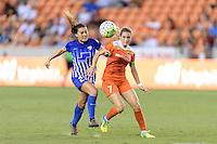 Houston, TX - Sunday Sept. 11, 2016: Brooke Elby, Kealia Ohai during a regular season National Women's Soccer League (NWSL) match between the Houston Dash and the Boston Breakers at BBVA Compass Stadium.