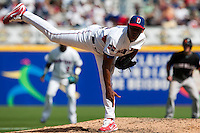 7 March 2009: #50 Carlos Marmol of the Dominican Republic pitches against the Netherlands during the 2009 World Baseball Classic Pool D match at Hiram Bithorn Stadium in San Juan, Puerto Rico. Netherlands pulled off a huge upset in their World Baseball Classic opener with a 3-2 victory over Dominican Republic.