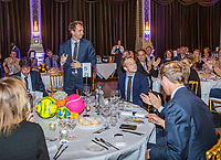 The Hague, The Netherlands, September 13, 2017,  Sportcampus , Davis Cup Netherlands - Chech Republic, Official Dinner, Dutch table<br /> Photo: Tennisimages/Henk Koster