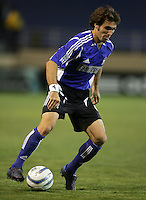2 April 2005:   Brian Mullan of Earthquakes against Revolution at Spartan Stadium in San Jose, California.   Earthquakes and Revolutions tied at 2-2.  Credit: Michael Pimentel / ISI