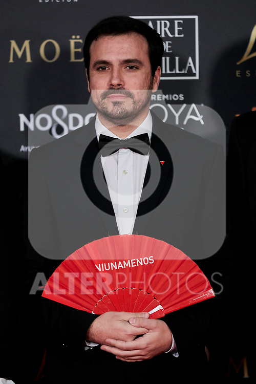 Alberto Garzon attends to 33rd Goya Awards at Fibes - Conference and Exhibition  in Seville, Spain. February 02, 2019. (ALTERPHOTOS/A. Perez Meca)