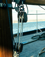 PULLEYS (Block and Tackle).Trading Force For Distance.The addition of a second pulley distributes the weight between the two pulleys