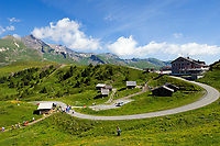 CHE, Schweiz, Kanton Bern, Berner Oberland, Grindelwald: Grosse Scheidegg (1.961 m): zwischen Grindelwald und dem Rosenlauital, links das Schwarzhorn (2.928 m) | CHE, Switzerland, Canton Bern, Bernese Oberland, Grindelwald: Grosse Scheidegg (1.961 m): between Grindelwald and Rosenlaui Valley, left Schwarzhorn mountain (2.928 m)