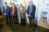 JULIEN LAUPRETRE (PRESIDENT DU SECOURS POPULAIRE) - LANCEMENT DE LA CAMPAGNE 'VACANCES POUR TOUS 2016' DU SECOURS POPULAIRE A LA GARE MONTPARNASSE A PARIS - A L'OCCASION LES ENFANTS DU SECOURS POPULAIRE EMBARQUENT DANS UN TGV POUR UN SEJOUR A L'ILE DE RE
