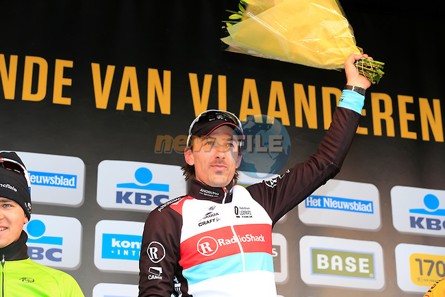 Fabian Cancellara (SUI) Radioshack Leopard Trek wins the race in Oudenaarde at the end of the 2013 Tour of Flanders, Belgium, Sunday 31st  March 2013 (Photo by Eoin Clarke 2013)