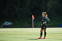 Seattle, WA - Sunday, May 1, 2016: Seattle Reign FC goalkeeper Hope Solo (1) during the first half of a National Women's Soccer League (NWSL) match at Memorial Stadium. Seattle won 1-0.
