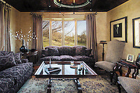 Sitting Room With Stylish Living Design And Picture Window