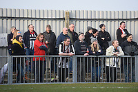 Grimsby Town fans watch on during the FA Trophy Semi Final first leg match between Bognor Regis and Grimsby Town at Nyewood Lane, Bognor Regis, England on 12 March 2016. Photo by Paul Paxford/PRiME Media Images.